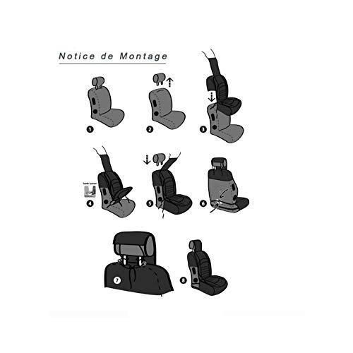 Cubre asiento delantero gran confort para Megane I (1996/01-2003/08), 1 pieza, gris antracita