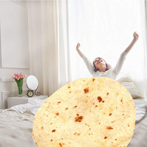 Mabofix Manta de tortilla de burritos impresa en 3D, suave y cómoda, gigante de playa, manta de tortilla de felpa suave (color: 150 cm)