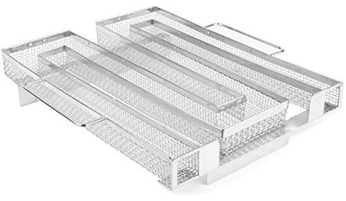 7ven miLe NEU Kaltrauchgenerator 2.0 - Sparbrand Kaltraucherzeuger aus Edelstahl - für Kugelgrill, Smoker und Räucherofen/Räucherzubehör