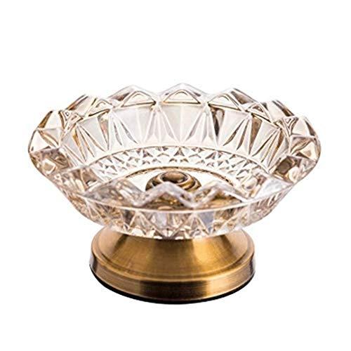 KEWEI Cenicero De Puros, Cenicero de Cristal de Metal Ligero Europea Gama Alta Creativa Hotel de la Mesa de Centro Modelo de habitación salón Suaves Ornamentos Decorativos cenicero
