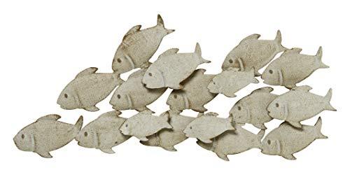 S&D Wandbild Wandobjekt Fische aus Eisen