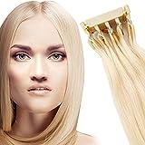 6D Estensioni Dei Capelli Umani, 6D Naturale Lisci Invisibile Umani, Estensioni Dei Capelli, Parrucchino Umani Hair Extensions Per Salone, Donne, 40 g # 613 Bionda,#613,10 in/25cm