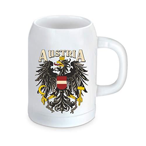 Divertente boccale di birra – Austria – Stemma dello Stato