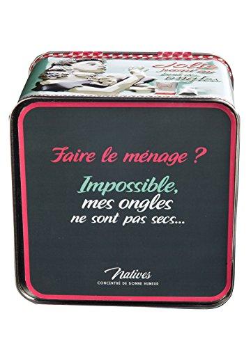 Natives 411350 Boîte à Vernis & Manucure, Métal, Multicolore, 15 x 15 x 13 cm