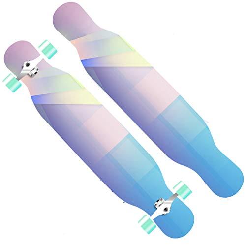 DUBAOBAO 40-Zoll-Longboard-Skateboard direkt durch EIN Cruiser-Board, 8-Layer-Ahornboard für Erwachsene, farbiges rutschfestes Schleifpapier, 3