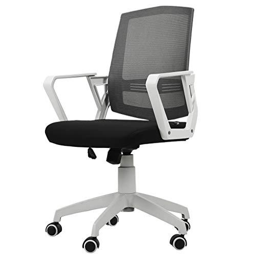 Comif-Chaise de bureau en Tissu Respirant, dotée d'accoudoirs et d'une Chaise de Bureau Confortable à Support Lombaire, inclinable à 120 °, adaptée aux études/à l'administration(Blanc)