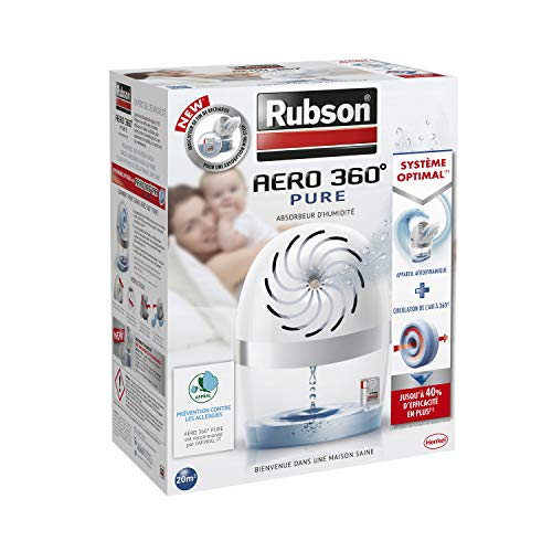Rubson Aero 360 Pure - Deshumidificador (20 m²), color blanco