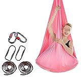 Volar Yoga honda de la correa Hamaca de yoga aérea Hamaca de columpio interior Yoga antigravedad sin nudos libre contiene hebilla y cuerda (4x2.8M) para los ejercicios de yoga antigravedad reversión