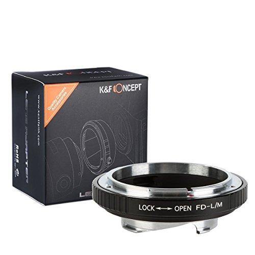 K&F Concept ® マウントアダプター FD-L/M Canon FDマウントレンズ-Leica Mマウントカメラ装着用レンズアダ...