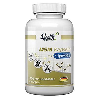Health+ MSM Kapseln - 120 Kapseln hochdosiert mit OptiMSM, mehrfach destilliert, Made in Germany