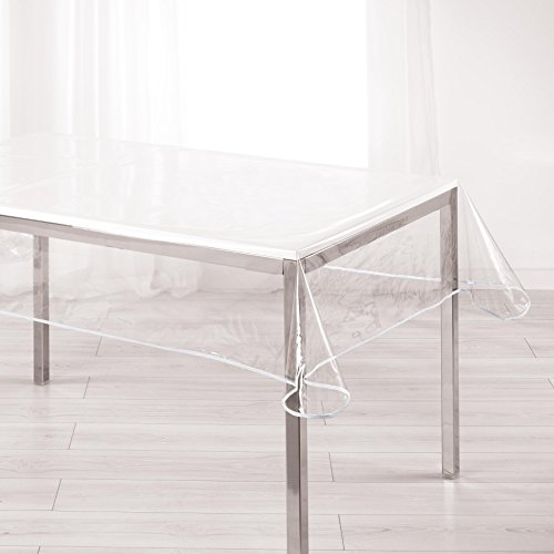 Décor Line, tovaglia rettangolare, PVC, bianco, 140 x 240 cm