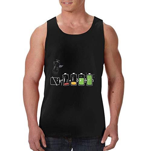 Herren Tanktop Tank Top Tankshirt T-Shirt Unterhemden Ärmellos Muskelshirt Sport Cartoon Battery Drained Men's 3D Print Apparel Graphics Tees Sport Gym Shirt