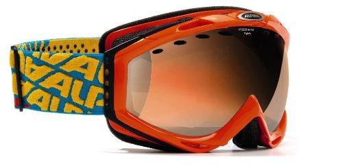 Alpina Cybric HM - Skibrille mit sphärischer Scheibe, Color:bloodorange