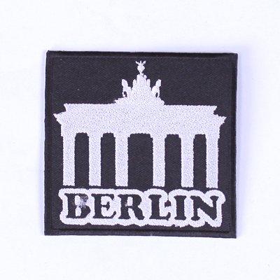 Berlin Aufnäher Patches für Jacken Bügelbild Aufbügler Applikation Wappen Emblem Deutschland Berlin 9 cm