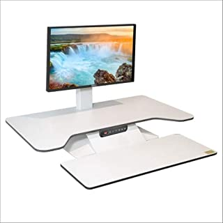 STANDESK PRO Memory + Keyboard White, Electric with Memory Function Height Adjustable Desk Sit Stand Desk with Keyboard Tray