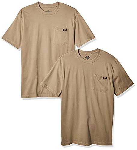 Dickies Men's Short Sleeve Pocket T-Shirt 2-Pack, Desert Sand, Medium