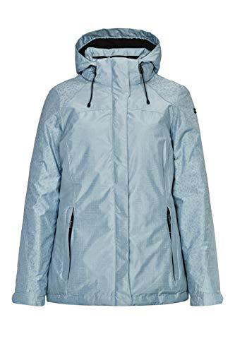 killtec Outdoorjacke Damen Nehle - warme Winterjacke mit Thermoprint - Funktionsjacke mit abzippbarer Kapuze - wasserdicht & atmungsaktiv, hell stahlblau, 42