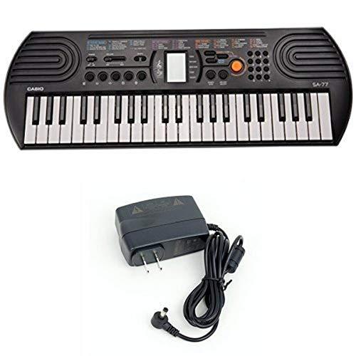 Casio SA77 44 Keys 100 Tones Keyboard bundle with Casio Power Supply