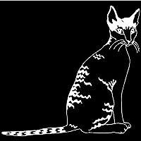 3ピース 14.1 * 13.4CM猫ビニールデカール車のトラックステッカー動物の車のステッカー