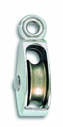 Chapuis VPSF00 2 Poulie œil zamak nickelé 27 kg galet 17,5 mm pour Corde D 5 mm