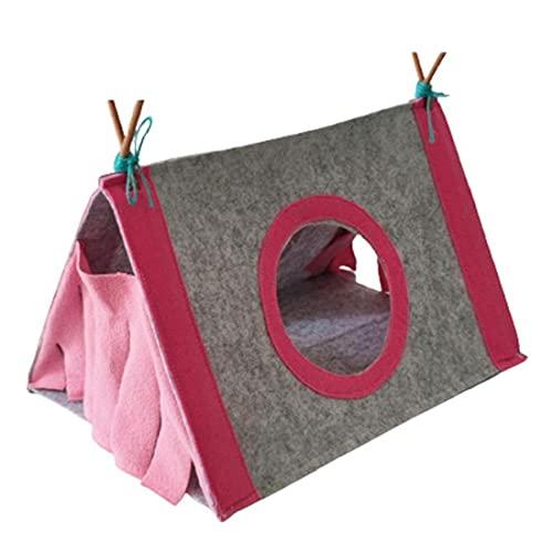 Tuimiyisou Hamster Escondido Tienda Pequeño Animal Shelter House Guinea Pig Transpirable Nest Cause Pink S