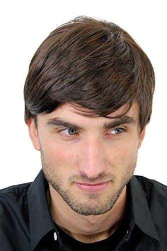 WIG ME UP ® - GFW994-6 Herrenperücke Perücke Männer Kurz Jugendlich Lässig Modisch Braun Toupet Neu