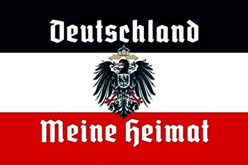 Schatzmix Deutschland Meine Heimat Reichsfahne Flagge Adler Metallschild 20x30 cm Wanddeko tin Sign Blechschild, Blech, Mehrfarbig