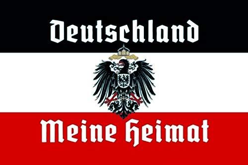 FS Deutschland Meine Heimat Reichsfahne Flagge Adler Blechschild Schild gewölbt Metal Sign 20 x 30 cm