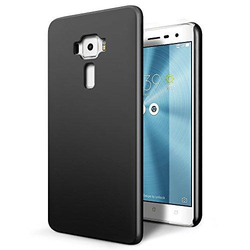 SLEO Asus Zenfone 3 ZE520KL Hülle Stilvolle Harte PC SchutzHülle [Anti-Fingerabdrücke] [Soft-Touch] Rückseite Tasche für Asus Zenfone 3 ZE520KL - Schwarz