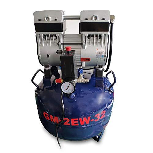 Compresor de aire silencioso, 32 L, dispositivo silencioso, sin aceite, compresor de aire