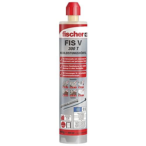 fischer Hochleistungsmörtel FIS V 300 T, wetterfester Mörtel für den Innen- und Außenbereich, universeller Montagemörtel, Zementmörtel für Schwerlasten & alle relevanten Baustoffe, 300 ml