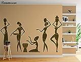 zqyjhkou Gruppe Von Afrikanerin Wandtattoo Afrika Mädchen Frauen Tanzen Wandkunst Vinyl Aufkleber...