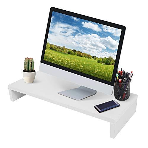Rialzo Monitor, Supporto per Monitor per Pc Portatile, Supporto per Monitor e Computer Portatile, Supporto per Monitor in Legno per Laptop, Computer, Notebook, 50 X 20 X 7,7 cm