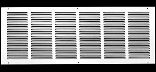30'w X 14'h Steel Return Air Grilles - Sidewall and Ceiling - HVAC Duct Cover - White [Outer Dimensions: 31.75'w X 15.75'h]