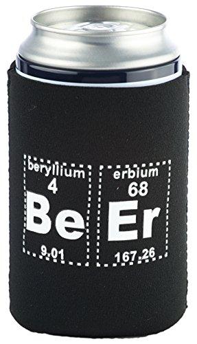 Funny Guy Mugs Periodic Beer Neoprene Can Coolie, Black