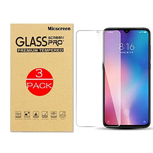 MICSCREEN Pack de 3 protectores de pantalla de cristal templado para Xiaomi...