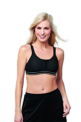 Amoena womens Performance Light Support sports bras, White, 40AA US