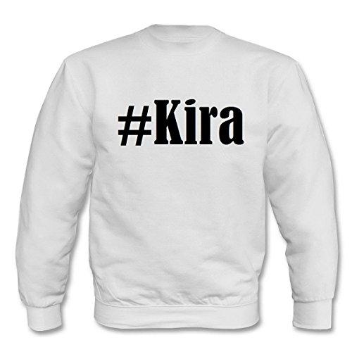 Reifen-Markt Sweatshirt Damen #Kira Größe M Farbe Weiss Druck Schwarz