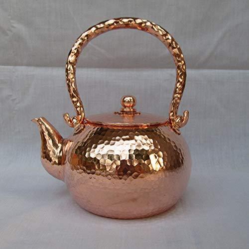 MLOZS Tetera Tetera Tetera Mini Martillado Copper Teakettle1000ml
