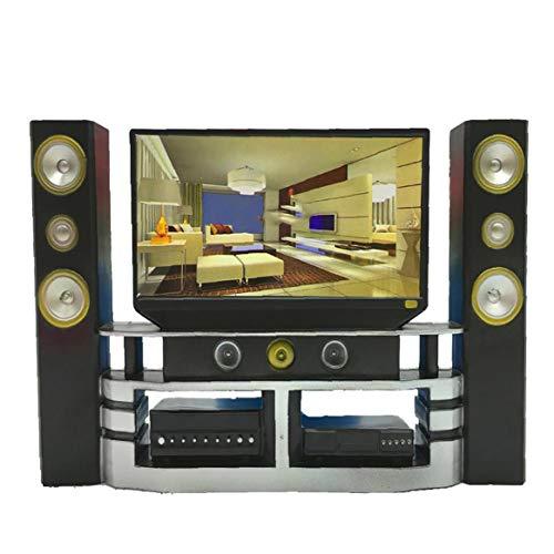 Uayasily 1 PC Mini Hi-Fi TV de Cine en casa Gabinete Combinado Determinado de la Mini muñeca del Regalo de los niños