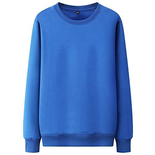 Sudaderas con capucha para hombre de marca de moda sólida, otoño para hombre, calle, salvaje base, sudaderas con capucha para hombre, casual, cuello redondo, sudadera (color: azul real, talla: M)