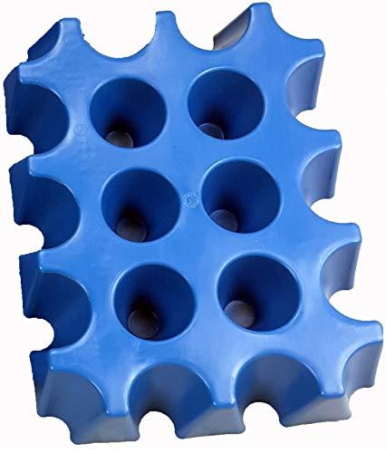 SL-Eisblock Blocco di ghiaccioper cassa di birra e altre bottiglie da 0,5litri, made in Germany blau