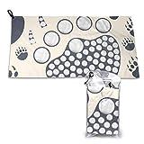 BriaPa Microfiber Towel Perfect Travel & Sports &Beach,Natural,...