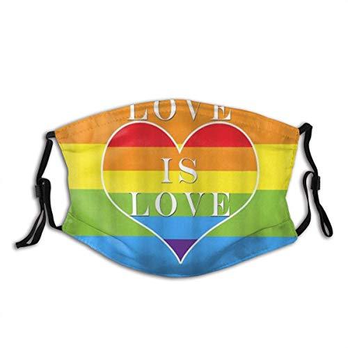 Mascarilla reutilizable arcoiris blanca lgtbi orgullo gay original elegante divertida hombres mujeres pride rainbow