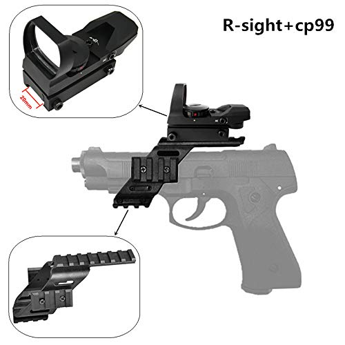 "FIRECLUB 1X22X33 Sight Scope Reflex Sight 20mm 22mm With 7/8"" Weaver & Picatinny Glock 17 5.56"