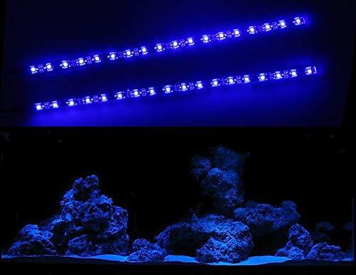 CREATIVE LIGHTS - AQUARIUM MONDLICHT 2 x 30 CM LED LICHTLEISTE + DIMMER KOMPLETTSET INKL. NETZTEIL FLEXI-SLIM BLAU