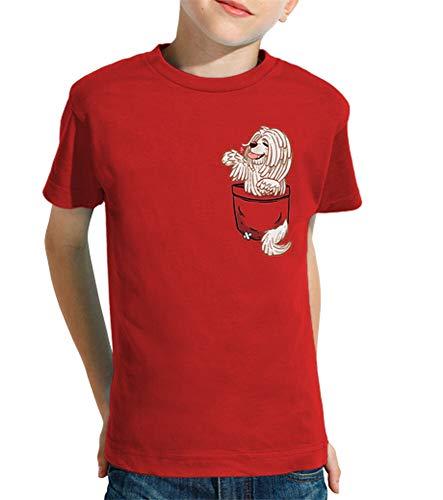 tostadora - T-Shirt Tasche Niedlich Komondor - Kind Rot XL
