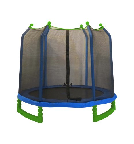 Upper Bounce 7' Indoor/Outdoor Classic Trampoline & Enclosure Set