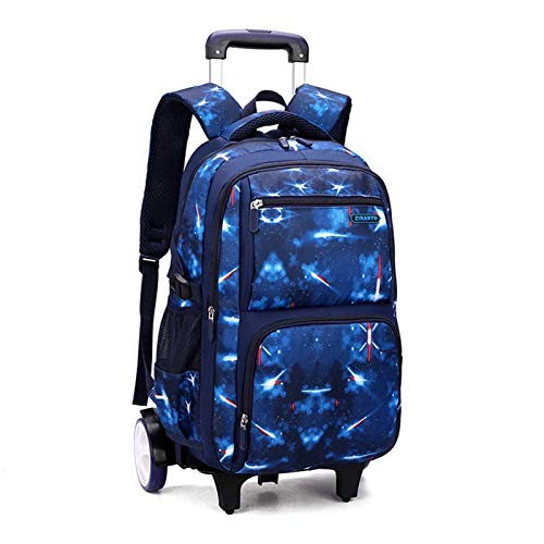 Hand Luggage Backpack Trolley School Bag for Middle School Students with Large Capacity, Large Wheeled Cabin Suitcase Can Climb Stairs (Color : B)