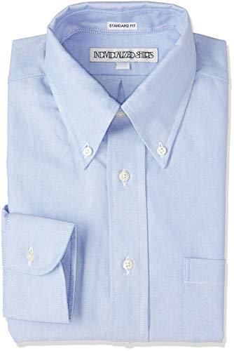 [インディビデュアライズドシャツ] ボタンダウンシャツ IS1911002 E16BOO ブルー US 16H-34 (日本サイズ2L相当)